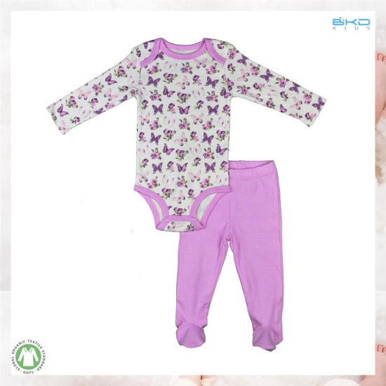 Water Printing Baby Wear Custom Size Baby Suit