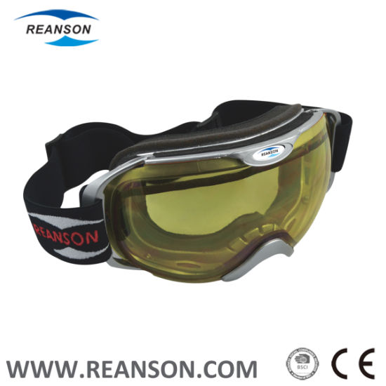 Wide View Shperical Lens Frameless Professional Snow Goggles pictures & photos