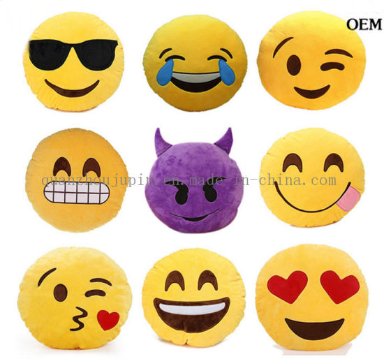 Wholesale Emoji Plush Stuffed Kid Toy for Promotional Gift