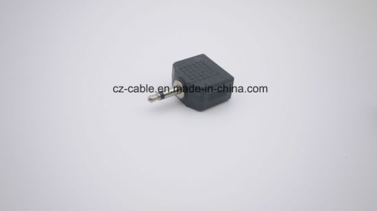 3.5mm Mono/Stereo Plug to 2*3.5mm Jacks pictures & photos