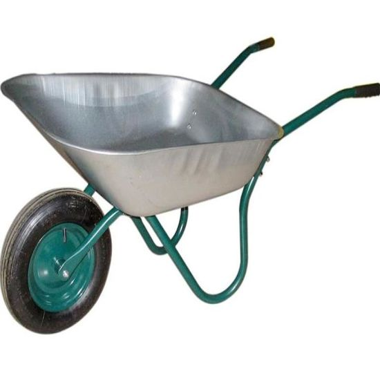 Russia 65L Wheelbarrow, Single Air Wheel Steel Rim