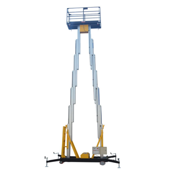 10m Height 200kg Capacity Mobile Man Lift for Maintenance & Installation pictures & photos