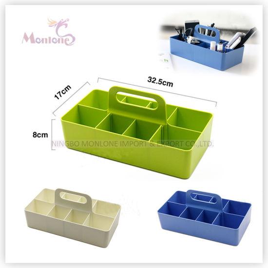 Multi-Purpose Plastic PP Detachable Table Storage Boxes 32.5*17*15.2cm
