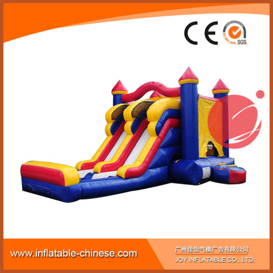 Frozen Slide/Bouncer/Obstacle Course Combo Inflatable for Kids (T3-903) pictures & photos
