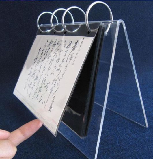Office Supply Acrylic Calendar Display Stand