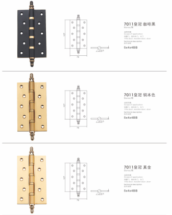 2016 New Style Brass Hinge (7011) pictures & photos