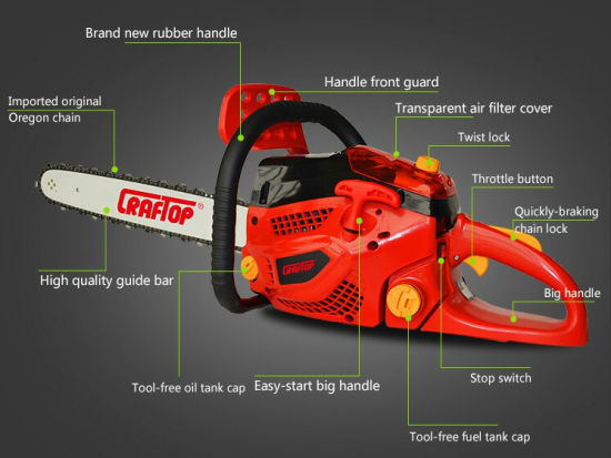 62cc 2.9kw Chain Saw for Sale Nt6210 pictures & photos