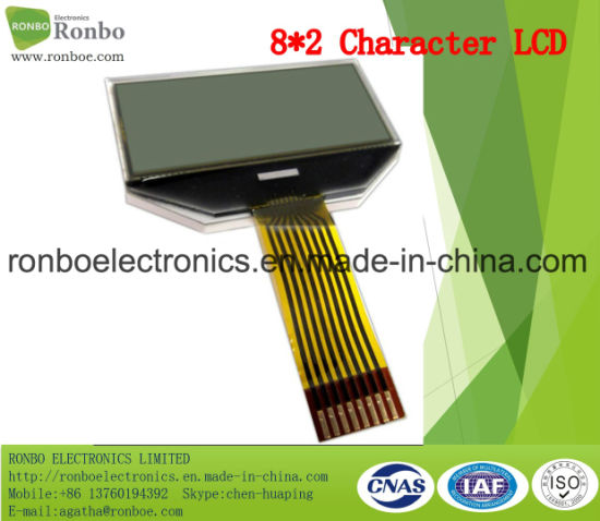 8X2 Character LCD Display, Stn Y-G, I2c Interface, FPC 8pin Cog LCD Screen pictures & photos