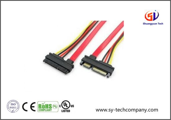 Laptop 4 Pin / 7 Pin SATA Wire Harness with PVC Jacket on