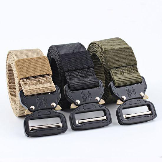 Camouflage Outdoor Tactical Training Belt, Polyester Webbing Waist Belt