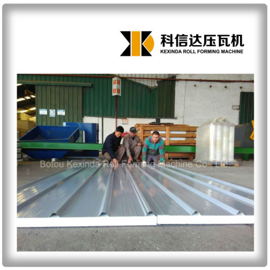 EPS/Rock Wool Sandwich Roof Panel Roll Forming Machine Sandwich Panel Production Line pictures & photos