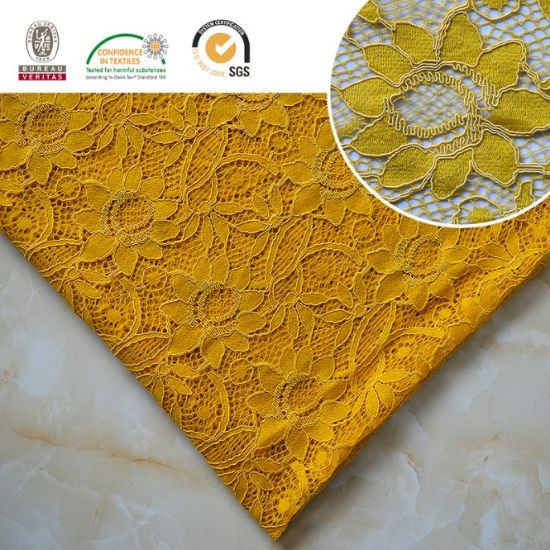 2017 High Quality Embroidery Lace Fabric Polyester Trimming Fancy Melt Polyster Lace for Garments & Home Textiles Ln10037