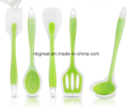 Wholesale 100% Food Grade Silicone Cooking Kitchen Tool with 5 Pieces
