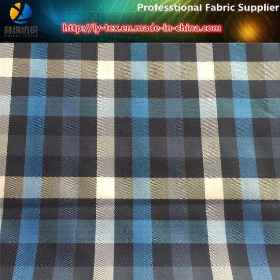 Polyester Twill Yarn Dyed Check Fabric for Windbreaker/Garment