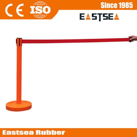 Colored Plastic Pedestrian Retractable Queue Rope Barrier pictures & photos