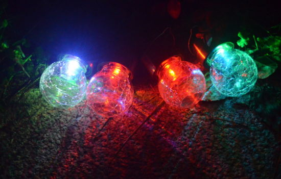 RGB Colorful Glasses Solar Garden Light pictures & photos