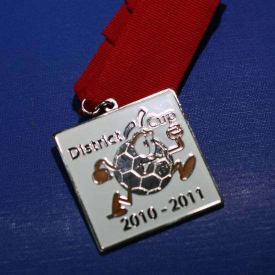 Custom Square Enamel Medal with Ribbon (GZHY-MB-002) pictures & photos