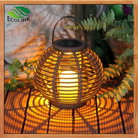 Rattan Solar LED Lantern/Chandelier/Lamp for Garden pictures & photos
