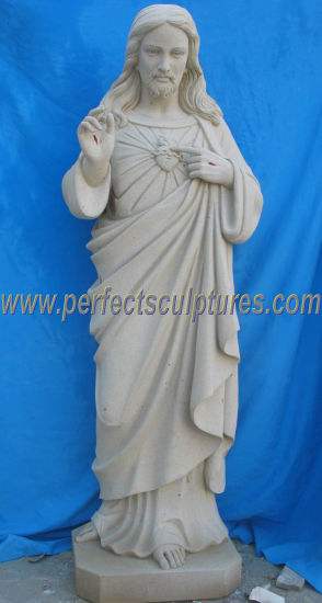 Hand Carved Stone Christ Catholic Statue Marble Religious Church Jesus Sculpture (SY-X1708)