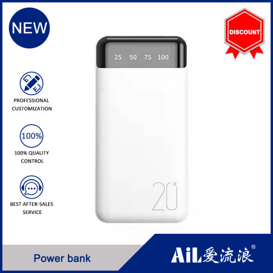 Cheap Portable Charger Powerbank 20000mAh Power Bank with LED Light