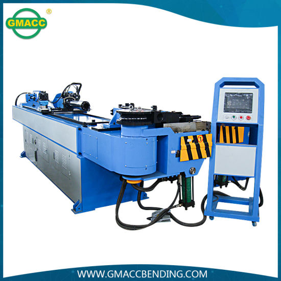 Hydraulic CNC Pipe Bender, Wheel Barrow Full Automatic Pipe Bending Machine for Solid Bar, Tube Bending Machine (GM-76CNC-2A-1S)