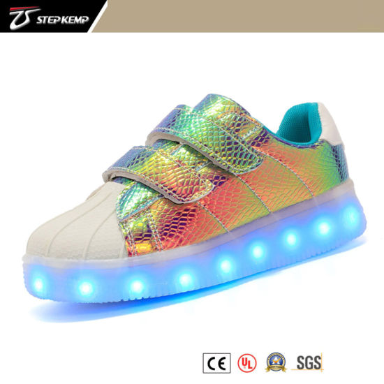 Skate Children Shoes with LED Light Baby Footwear 3156