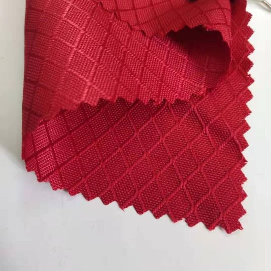 Polyester Dobby Honeycomb Ripstop 210t 230t Taffeta PU Coated Water Resistant Tent Bag Lining Fabric