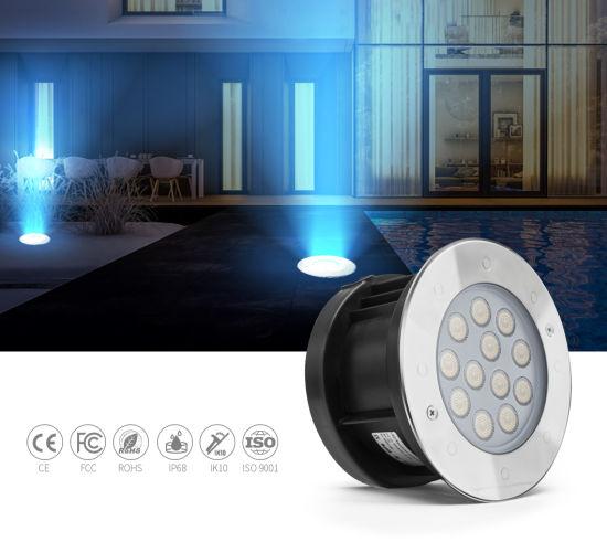 DC24V 9W LED Underwater Light Stainless Steel LED Ground Light Pool Lighting