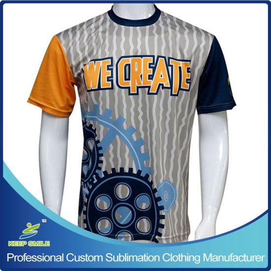 Custom Sublimation Short Sleeve Lacrosse Sports Shooting Men T-Shirt