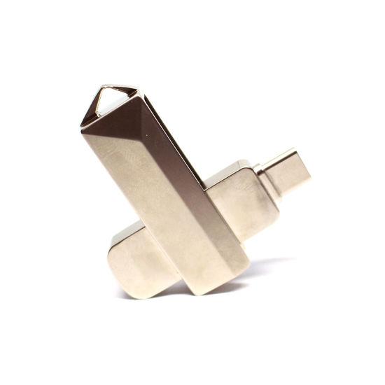 High Quality Customized Design Metal Swivel Smartphone OTG USB 3.0 16GB 32GB 64GB USB Flash Drives (TC009)