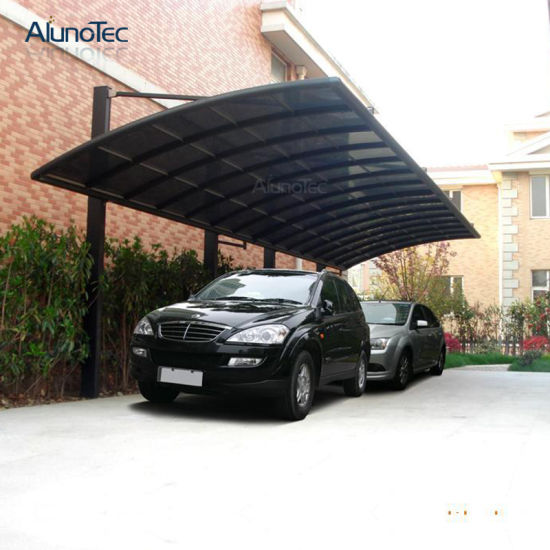 large commercial outdoor carport aluminium with pc roofing