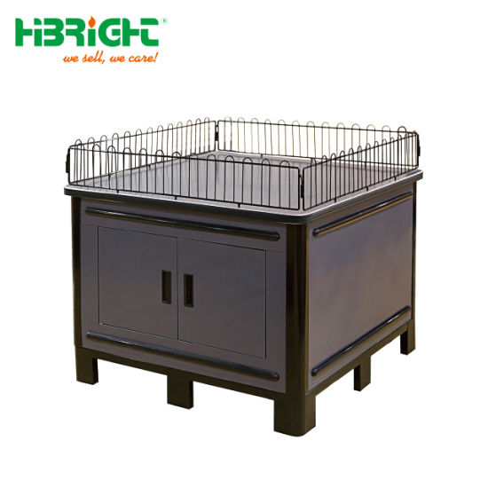 Metal Material Snack Promotion Cage with Stock Area pictures & photos