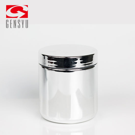SGS Certificated Chrome Plastic Vitamin Powder Jars pictures & photos