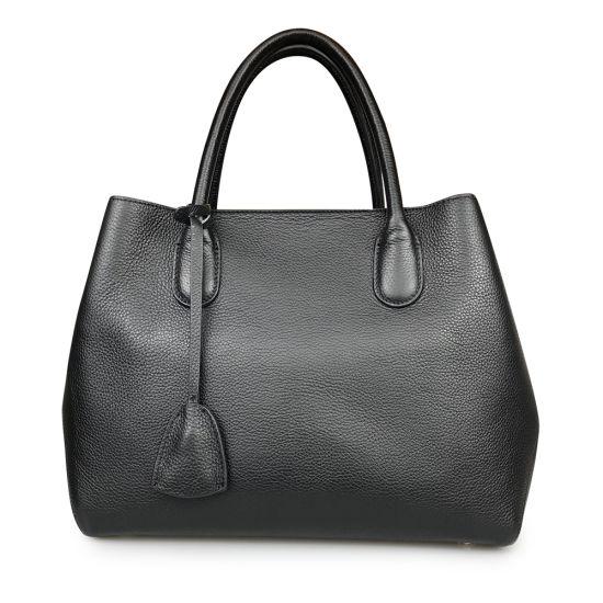 Lady Tote Bag Handmade Designer Genuine Cowhide Leather Handbag