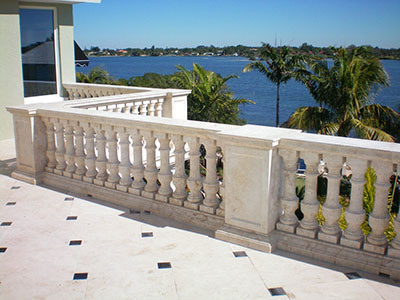 China White Granite Stair Baluster Marble Railing Handrail Baluster pictures & photos