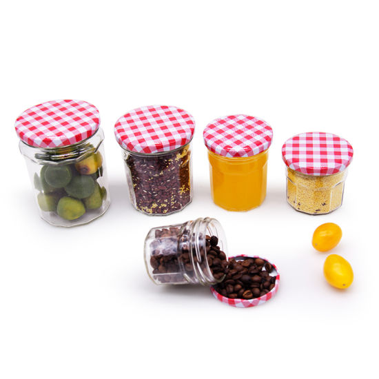 50ml 80ml 100ml 200ml 280ml 380ml 500ml 730ml Square Clear Glass Jar for Jam and Pickle with Metal Lid