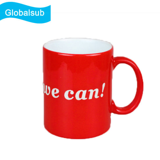 11oz Personalized Glossy Engraving Magic Sublimation Mug with Your Custom Text pictures & photos