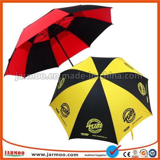 Wholesale Custom Logo Waterproof Windproof Printing Advertising Promotion Folding Golf Umbrella