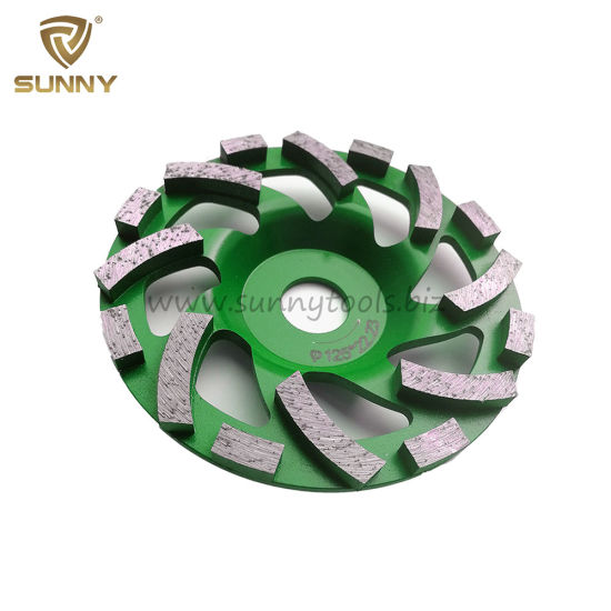 5 Inch Turbo Diamond Grinding Cup Wheel for Concrete pictures & photos