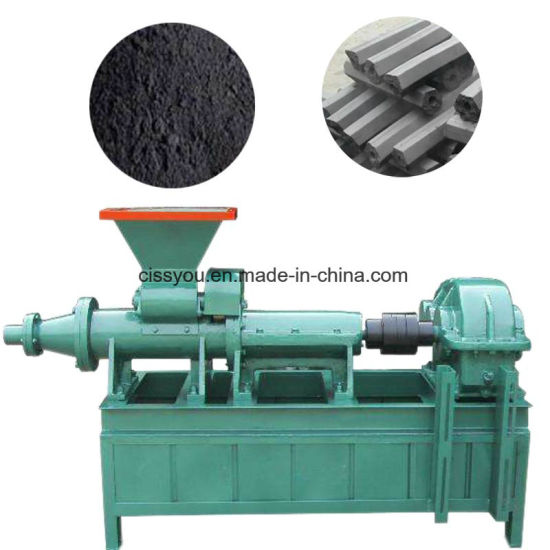 China Charcoal Coal Dust Pelletizing Briquette Extruder Machine pictures & photos