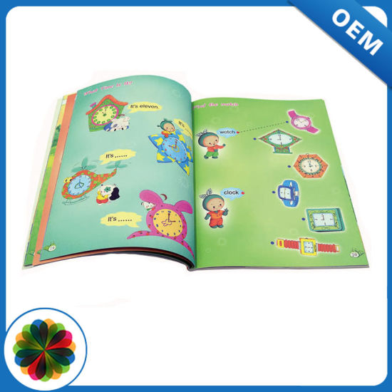 Softcover full color child book printing with high quality