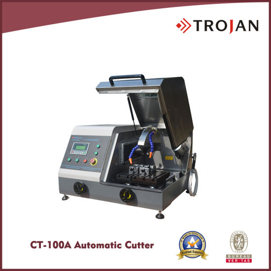CT 100A Variable Speed Automatic Metallographic Abrasive Saw Cutter for Sample Preparation