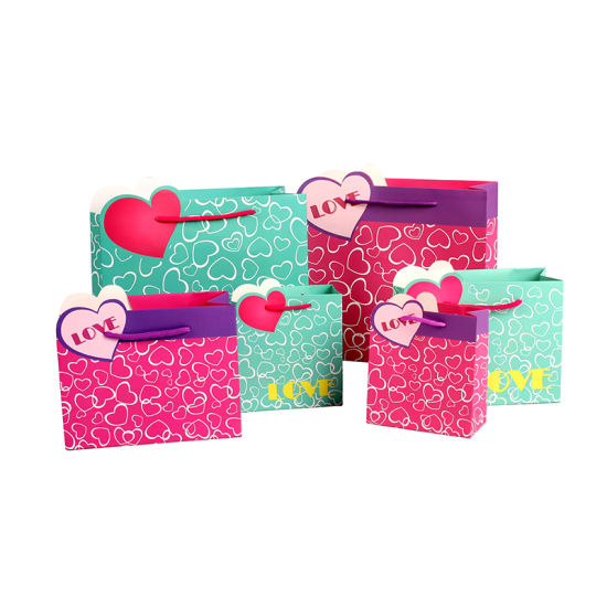 Low MOQ Wholesale 4c Printed Gift Packaging Paper Bags Stock