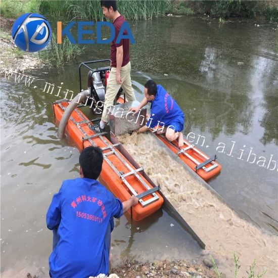 China Gold Mine Machine Mini Gold Sand Mining Dredge for Sale