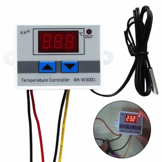 Xh-W3001 DC 12V Digital Temperature Controller Microcomputer Thermostat  Switch