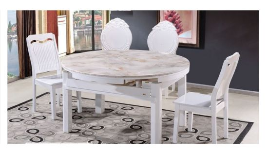 China Extendable Dining Sets Extension, Round Dining Table Set With Extensions