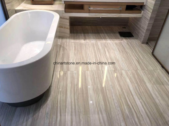 Greece Wooden White Marble Wall Tile Project pictures & photos