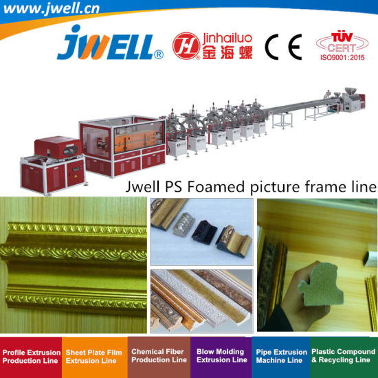 Jwell-PS Plastic Foamed Picture Frame Recycling Making Extrusion Machine