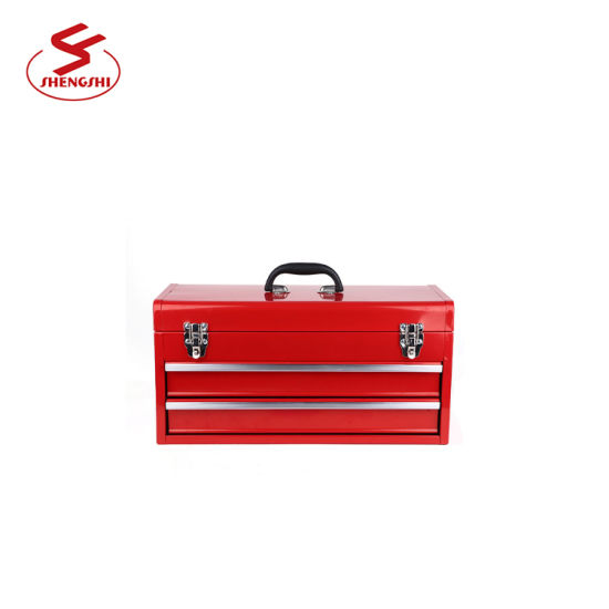 Red Car Drawer Cheap Metal Tool Boxes with 2 Drawer