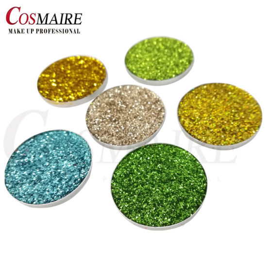 China Private Label Cosmetic Glitter Eyeshadow Pan Single Color